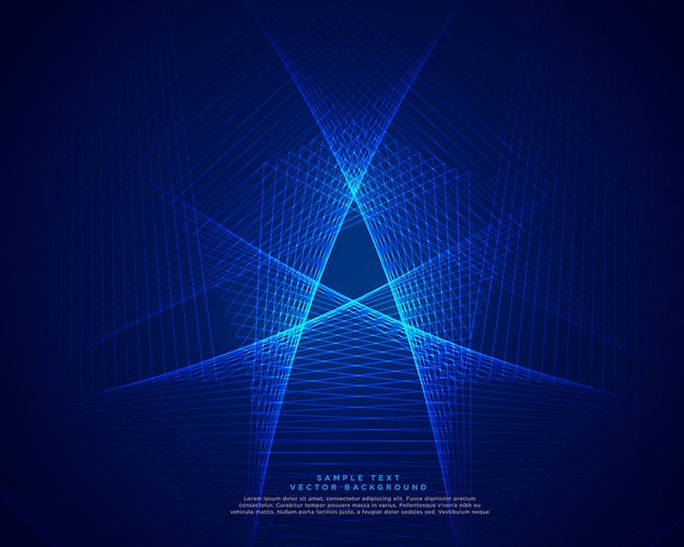 Blue technology abstract lines background