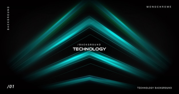 Blue technology background with geometric shape