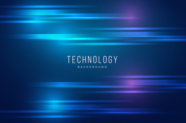 Blue technology background with lights effect