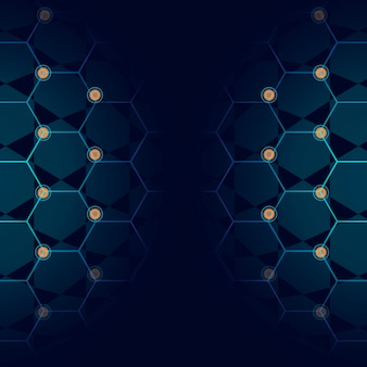Blue technology background