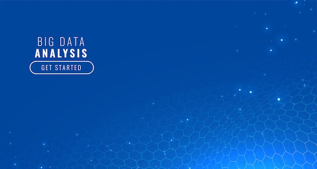 Blue technology hexagonal background
