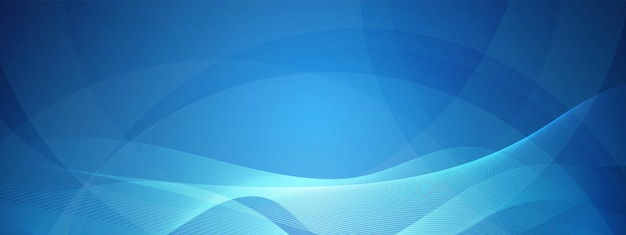 Blue technology wave design digital network background communication concept overlapping circle
