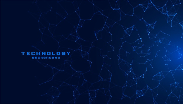 Blue technology with network mesh lines