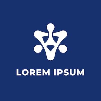 Вдохновение для дизайна логотипа blue tecnology