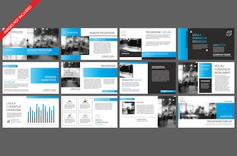 Blue template for powerpoint slide presentation