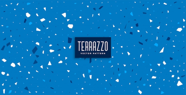 Blue terrazzo pattern tiles texture background