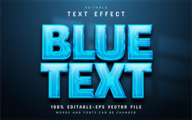 Blue text effect editable