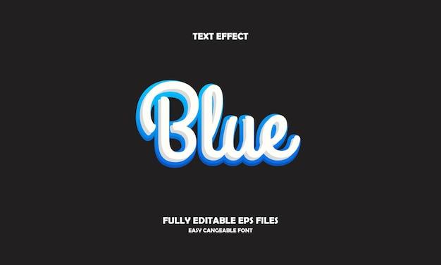 Синий текстовый эффект