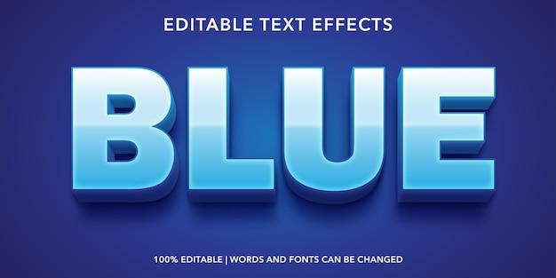 青色のテキストスタイルの編集可能なテキスト効果