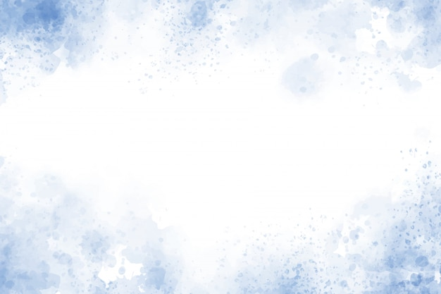 Голубая текстурированная акварель фон рамки