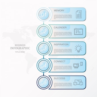 Blue theme infographics and icons for present business concept.