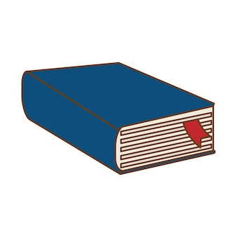 Blue thick book icon design