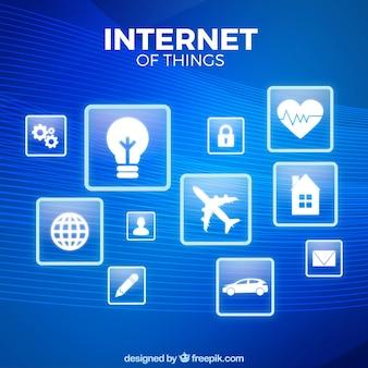 青いものインターネットの背景