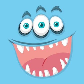 青い目の怪物の顔