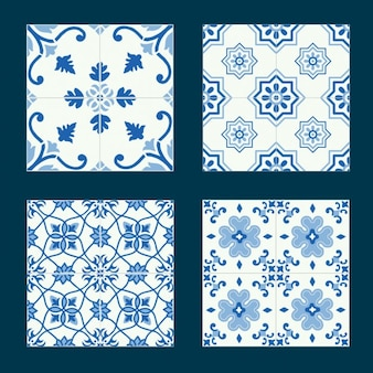 Blue tiles collection