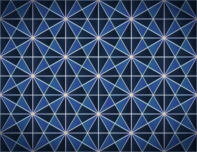 Blue tiles  seamless pattern