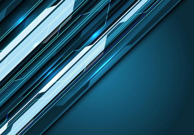 Blue tone circuit line light power dark blank space background.