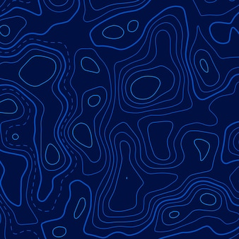 Синий фон топографических линий