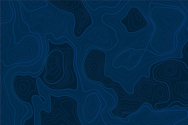 Blue topographic map background