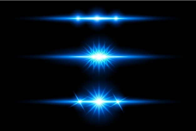 Синий прозрачный свет линзы вспышки дизайн eps