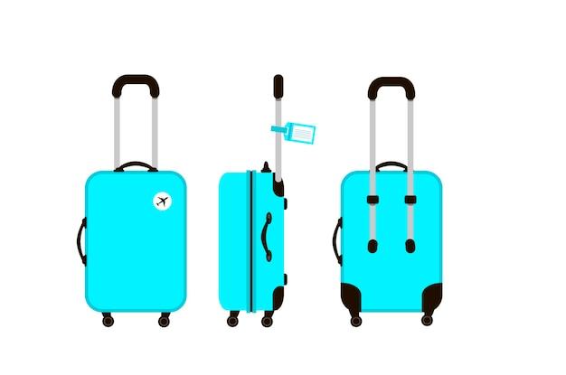 青い旅行スーツケースのイラスト