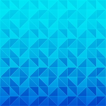 Blue triangle pattern background
