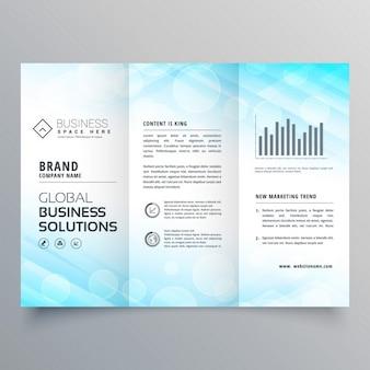 Blue triptych brochure