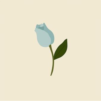 Синий тюльпан цветы символ цветочные векторные иллюстрации