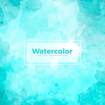 Blue Turquoise Watercolor Background