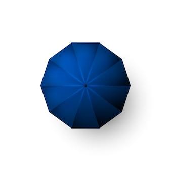 青い傘のイラスト