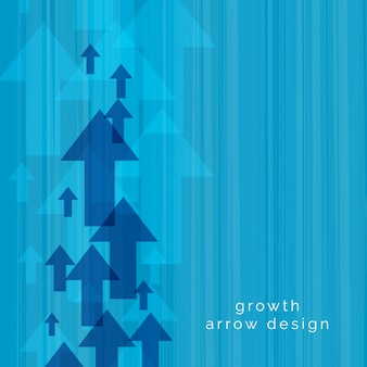 Blue upward arrow vector background