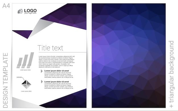 Blue vector  background for presentations
