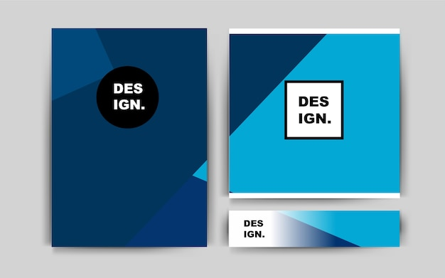 Blue vector banner for websites