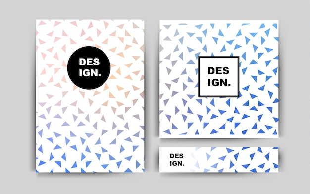 Blue vector layout for leaflets