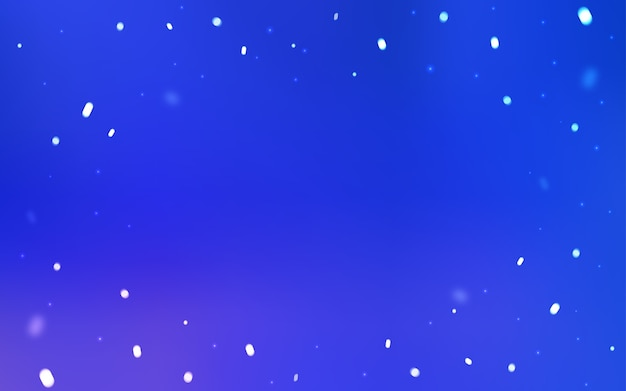 Blue vector layout with bright snowflakes