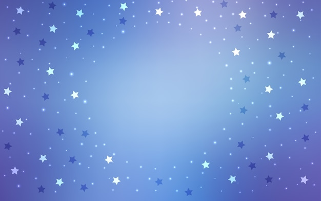 Blue vector pattern with christmas stars
