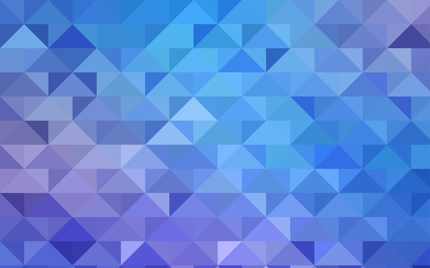 Blue vector triangle mosaic template