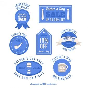 Blue vintage father's day badges