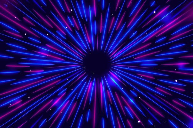 Sfondo di luci di velocità blu e viola