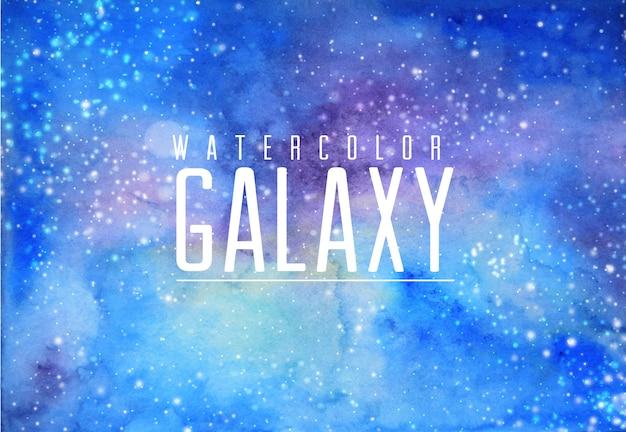 푸른 물 색 갤럭시 배경