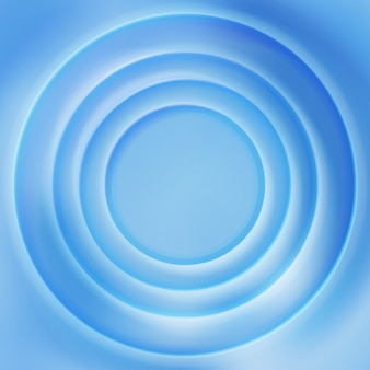 Blue water rippled surface background. Surface vibrant concentric illustration
