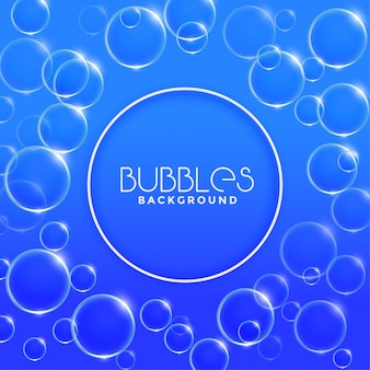 Blue water or soap bubbles background