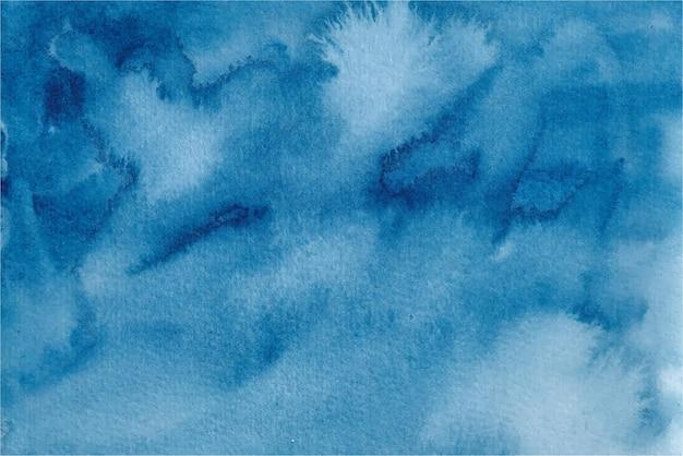 Синий акварельный абстрактный фон