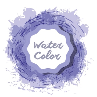 Blue watercolor art paint