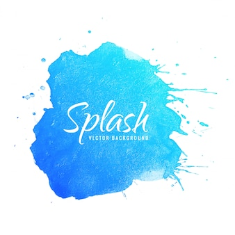Blue watercolor background hand paint splash design