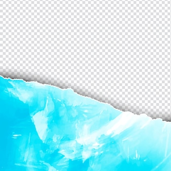 Blue watercolor background in ripped paper style