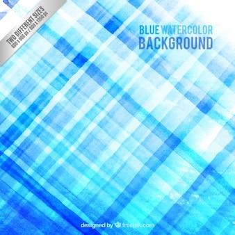 四角ブルー水彩画の背景