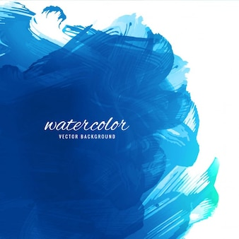 Blue watercolor, brushstrokes