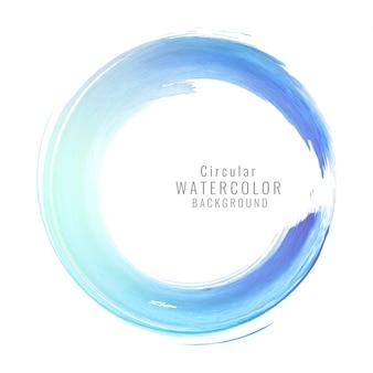 Blue watercolor circular background