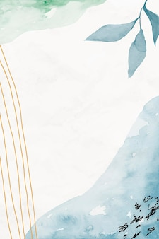 Sfondo floreale acquerello blu